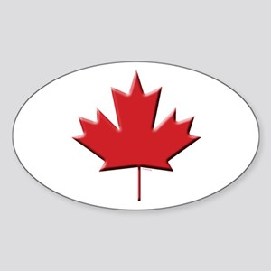Canada: Maple Leaf Oval Sticker