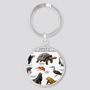 Animals of the Galapagos Islands Round Keychain