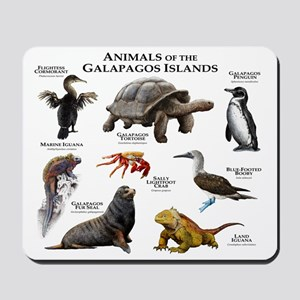 Animals of the Galapagos Islands Mousepad