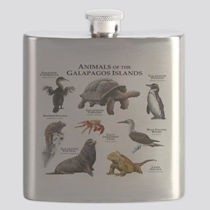 Animals of the Galapagos Islands Flask