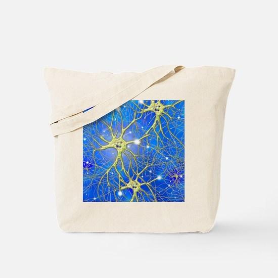 Nerve cells, artwork Tote Bag