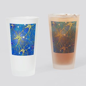 Nerve cells, artwork Drinking Glass