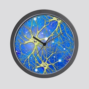 Nerve cells, artwork Wall Clock