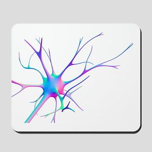 Nerve cell, computer artwork Mousepad