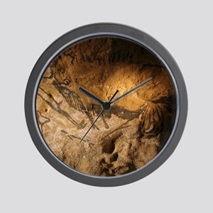 Stone-age cave paintings, Lascaux, Fran Wall Clock