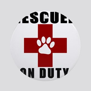 Rescuer, ON DUTY Round Ornament