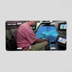 Submarine Rescue Unit train Aluminum License Plate