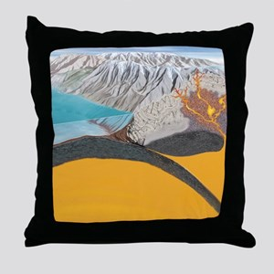 Subduction zone processes Throw Pillow