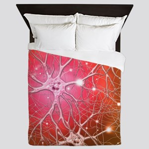 Nerve cells, artwork Queen Duvet