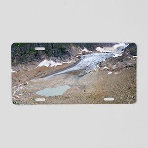 Stein glacier, Switzerland Aluminum License Plate