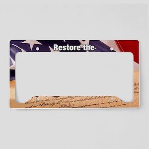 DesignB_banner License Plate Holder