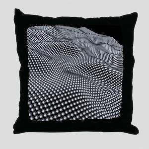 Nanospheres, computer artwork Throw Pillow