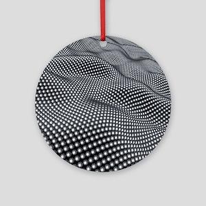 Nanospheres, computer artwork Round Ornament