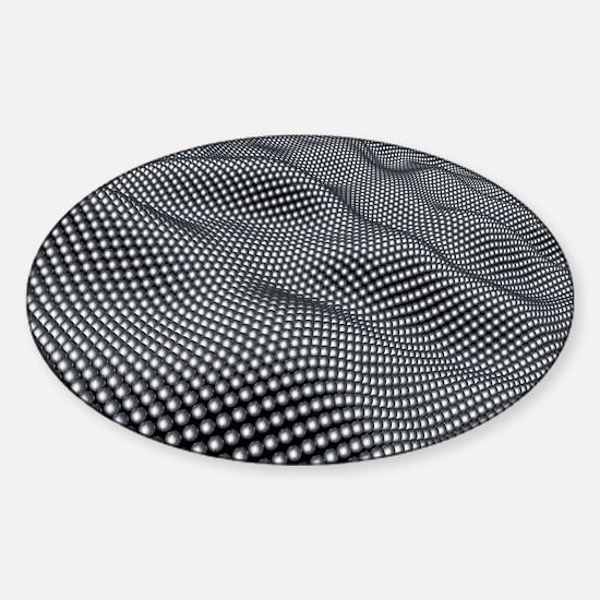 Nanospheres, computer artwork Sticker (Oval)