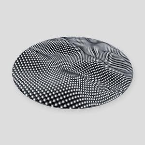 Nanospheres, computer artwork Oval Car Magnet