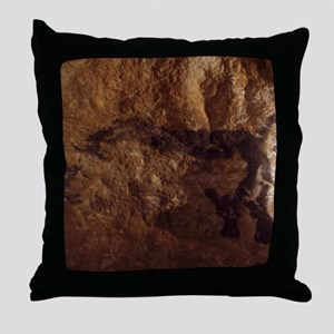 Stone-age cave paintings, Lascaux, Fr Throw Pillow