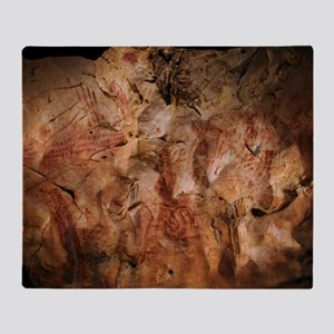 Stone-age cave paintings, Asturias,  Throw Blanket