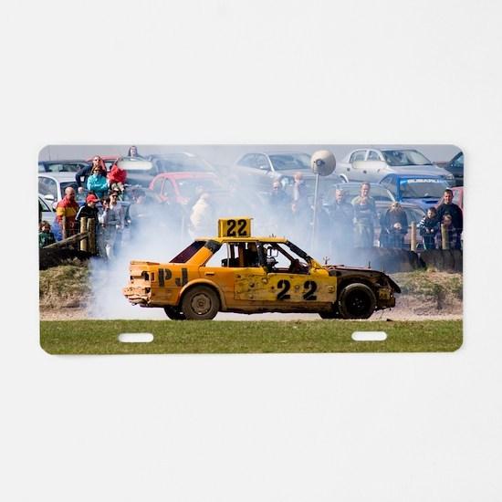 Stock car racing near Apple Aluminum License Plate