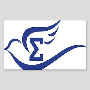 Dove symbol Sticker (Rectangle)