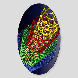 Nanotube technology Sticker (Oval)