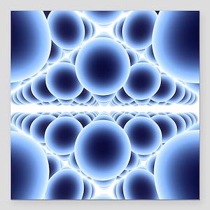 """Nanospheres, computer ar Square Car Magnet 3"""" x 3"""""""
