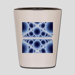 Nanospheres, computer artwork Shot Glass