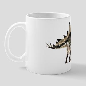 Stegosaurus dinosaur, artwork Mug