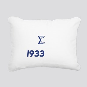 White Sigma Dove 1933 Rectangular Canvas Pillow