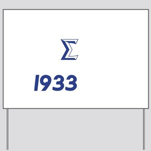 White Sigma Dove 1933 Yard Sign