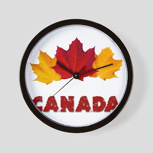 Maple Leaf Celebration Wall Clock