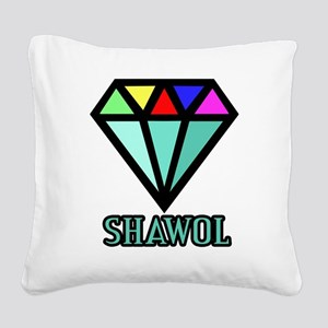 Shawol Diamond Square Canvas Pillow