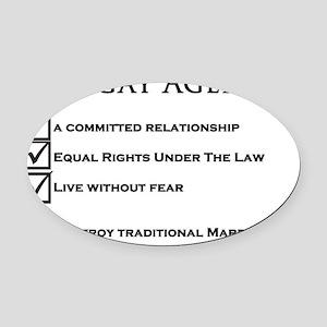 The Gay Agenda Oval Car Magnet