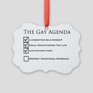 The Gay Agenda Picture Ornament
