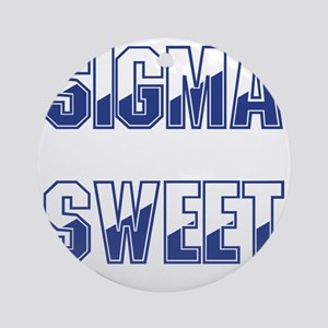 Two-tone Sigma Sweet Round Ornament