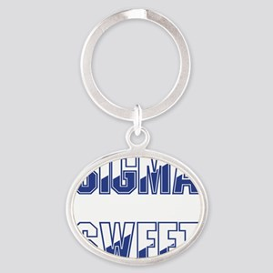 Two-tone Sigma Sweet Oval Keychain