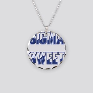 Two-tone Sigma Sweet Necklace Circle Charm