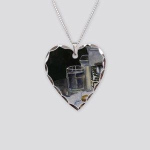 Table of New Orleans Beignets Necklace Heart Charm