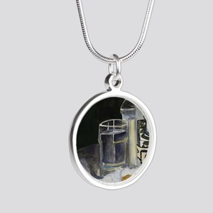 Table of New Orleans Beignet Silver Round Necklace
