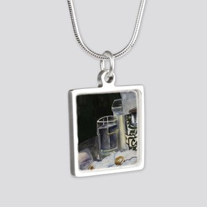 Table of New Orleans Beign Silver Square Necklace