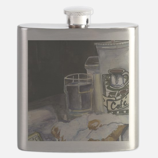Table of New Orleans Beignets Flask