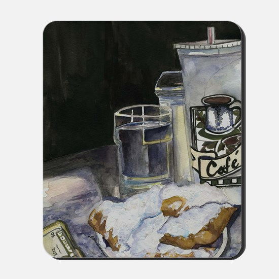 Table of New Orleans Beignets Mousepad
