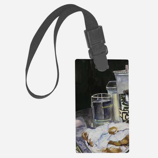 Table of New Orleans Beignets Luggage Tag