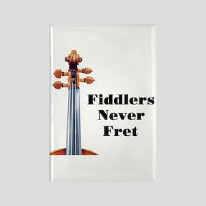Fiddlers Never Fret Rectangle Magnet