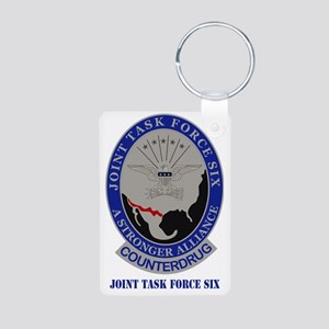 Joint Task Force Six Aluminum Photo Keychain