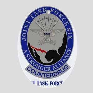 Joint Task Force Six Oval Ornament