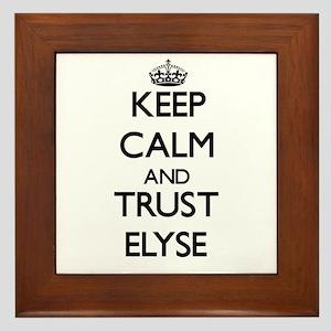 Keep Calm and trust Elyse Framed Tile