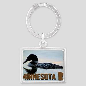 Minnesota Loon Postcard Landscape Keychain