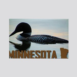 Minnesota Loon Postcard Rectangle Magnet