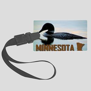 Minnesota Loon Postcard Large Luggage Tag