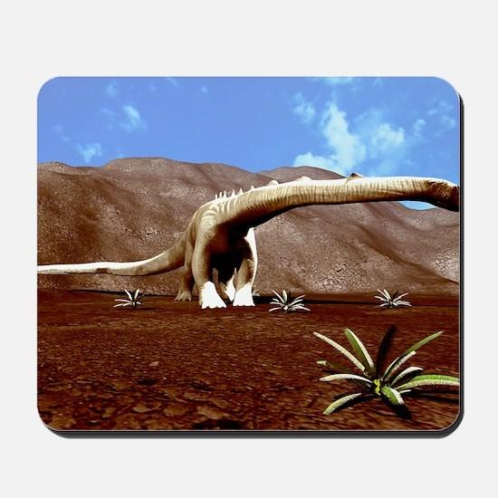 Young Diplodocus dinosaur Mousepad